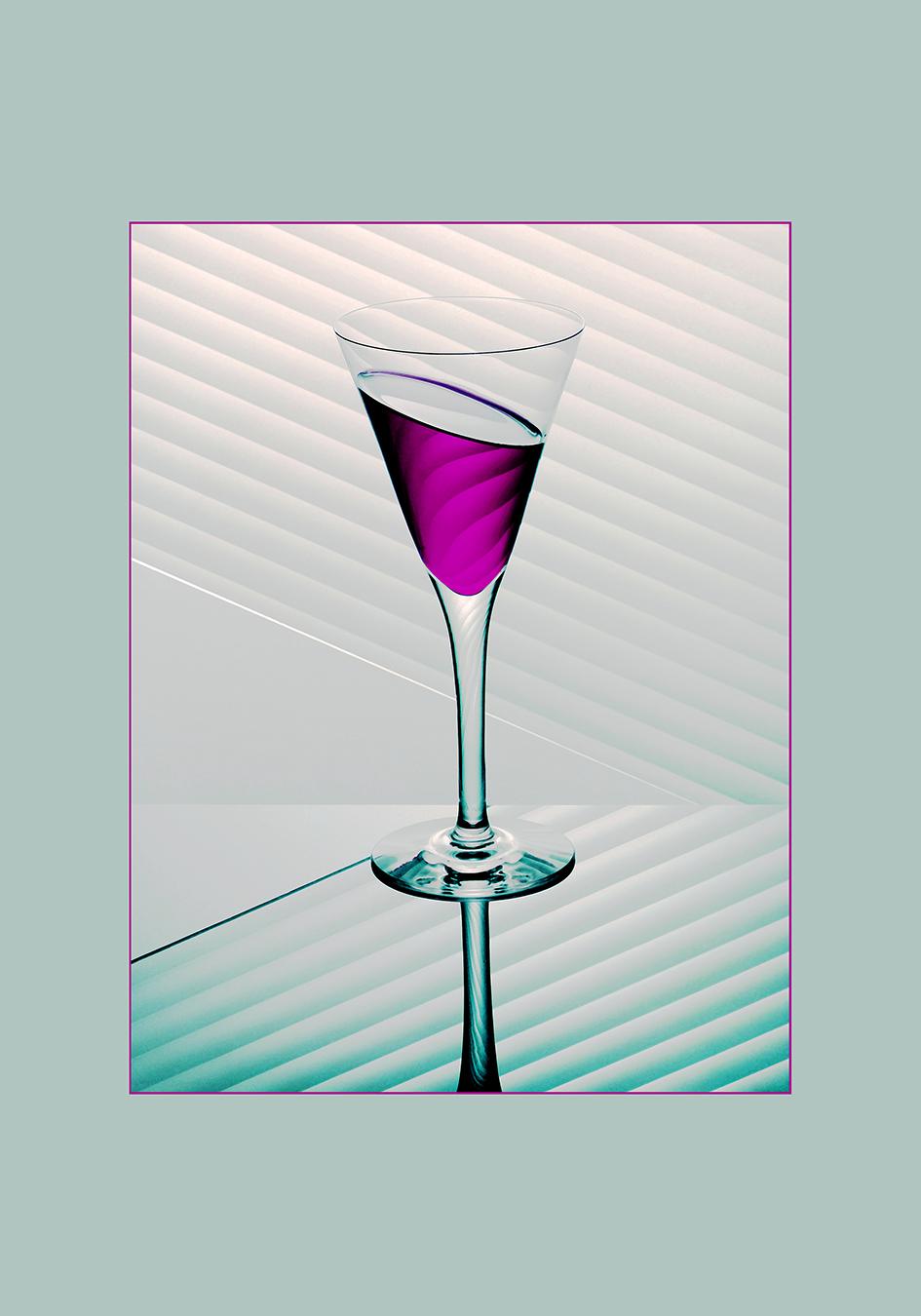Glaasje mint paars